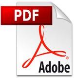 Redaktörs- - logo för Adobe PDF symbolsvektor royaltyfri illustrationer