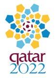 Redaktörs- - qatarisk logo för 2022 världscup stock illustrationer