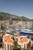 Redaktörs- sikt av porthamnen Monte - carlo Monaco Fotografering för Bildbyråer