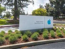Redaktionell - Apple hat Zeichens Stockbild
