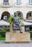 redaktionell April 2019 Saloniki, Griechenland Aristoteles Monument auf dem des Aristoteles Quadrat stockfotografie