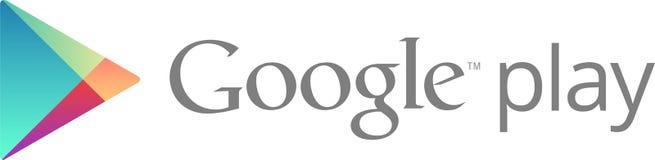 Redaktionell - Google Play-Logo lizenzfreie abbildung