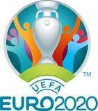 Redaktionell - UEFA-Eurologo 2020 stock abbildung