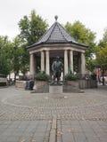 Redaktionelle Statue Johan Halverson Oslo Norway Lizenzfreies Stockfoto