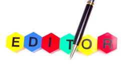 redaktor zdjęcie stock