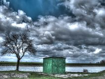 redaktora krajobrazu stawu przerobowa wiosna zdjęcia stock