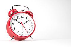 RedAlarmClock03 Stock Photography