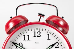 RedAlarmClock04 Royalty Free Stock Photos