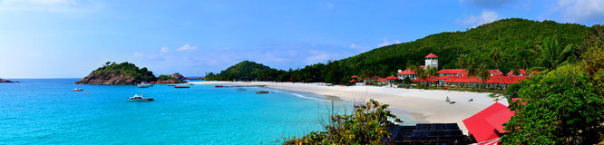 Redang wyspy panorama Obrazy Stock