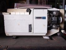 Redattore anziano Machine del film Fotografia Stock