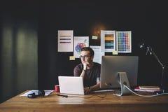 Redattore Workplace Concept del progettista di grafici fotografia stock