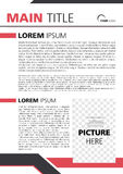 Redblack A4 dell'opuscolo Fotografie Stock