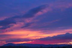 Redblue sunset Royalty Free Stock Image