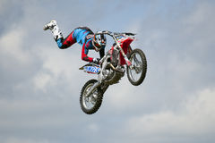 REDBOURN, UK - May 25: An unamed stunt rider from the Bolddog 'L Stock Photo
