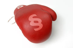 Redboxin glove Royalty Free Stock Image