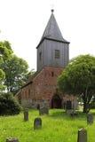 Redbrick kyrka i brutto- Zicker, Ruegen ö arkivbild