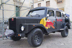 Redbull car Volvo Sugga della Red Bull. Royalty Free Stock Photo