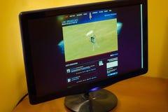 RedBull Stratos online broadcast Stock Photo