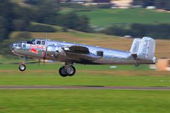 Redbull T-28B, P38and Alphajets Zdjęcie Stock