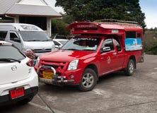 RedCar出租汽车清迈,泰国 库存照片