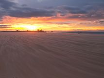 Redcar beach sunset Stock Image