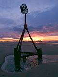Redcar beach sunset Royalty Free Stock Image