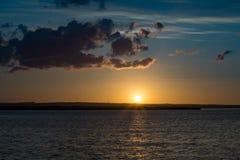 Redcar coast at sunset. North east coast of England. stock image