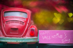 redcar valentijnskaart Stock Afbeelding