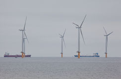 Redcar Wind Farm Royalty Free Stock Photography