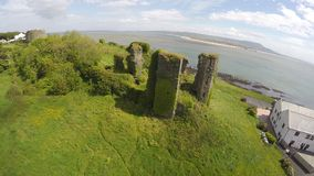 Redcastle Donegal Ireland. Ruins of Redcastle Castle Co. Donegal Ireland Royalty Free Stock Photo