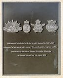 Redcliffe - Anzac Place War Memorial. Plaque on the obelisk dedicated to all who served in the Vietnam War, in Anzac Place, Redcliffe, Australia stock photos