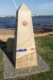Redcliffe - Anzac Place War Memorial. Memorial to the Vietnam Veterans in Anzac Place, Redcliffe, Australia Stock Image