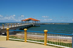 Redcliffe Jetty. This is the Redcliffe Jetty in the Main Street of Redcliffe Queensland Australia royalty free stock images