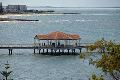 Redcliffe rotunda on the jetty royalty free stock image