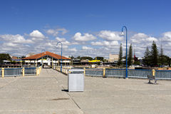 Redcliffe Water Front. The water front shopping street seen from the jetty in Redcliffe, Australia royalty free stock photography