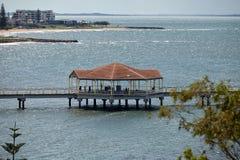 Redclifferotonde op de pier royalty-vrije stock afbeelding