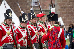 Redcoat soldiers Royalty Free Stock Images