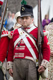 Redcoat standing to attention Royalty Free Stock Images