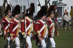 Redcoats britânicos Imagens de Stock Royalty Free