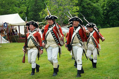 Redcoats Marching Royalty Free Stock Photography