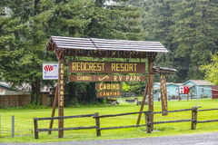 Redcrest Resort in the Redwood National Park - ARCATA / CALIFORNIA - APRIL 16, 2017