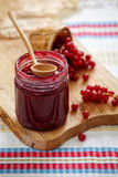 Redcurrant berry jam Royalty Free Stock Images
