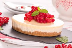 Redcurrant cheesecake Στοκ Εικόνες