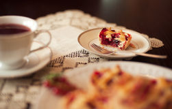 Redcurrant cupcakes Royalty-vrije Stock Foto