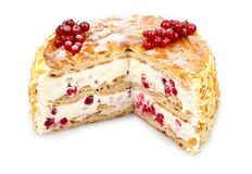 Redcurrant eclair cream cake Stock Photography