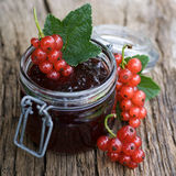 Redcurrant jelly Stock Photo