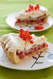Redcurrant meringue tart Royalty Free Stock Images