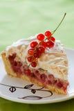 Redcurrant meringue tart Royalty Free Stock Photo