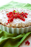 Redcurrant meringue tart Stock Photo