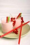 Redcurrant milkshake Stock Images